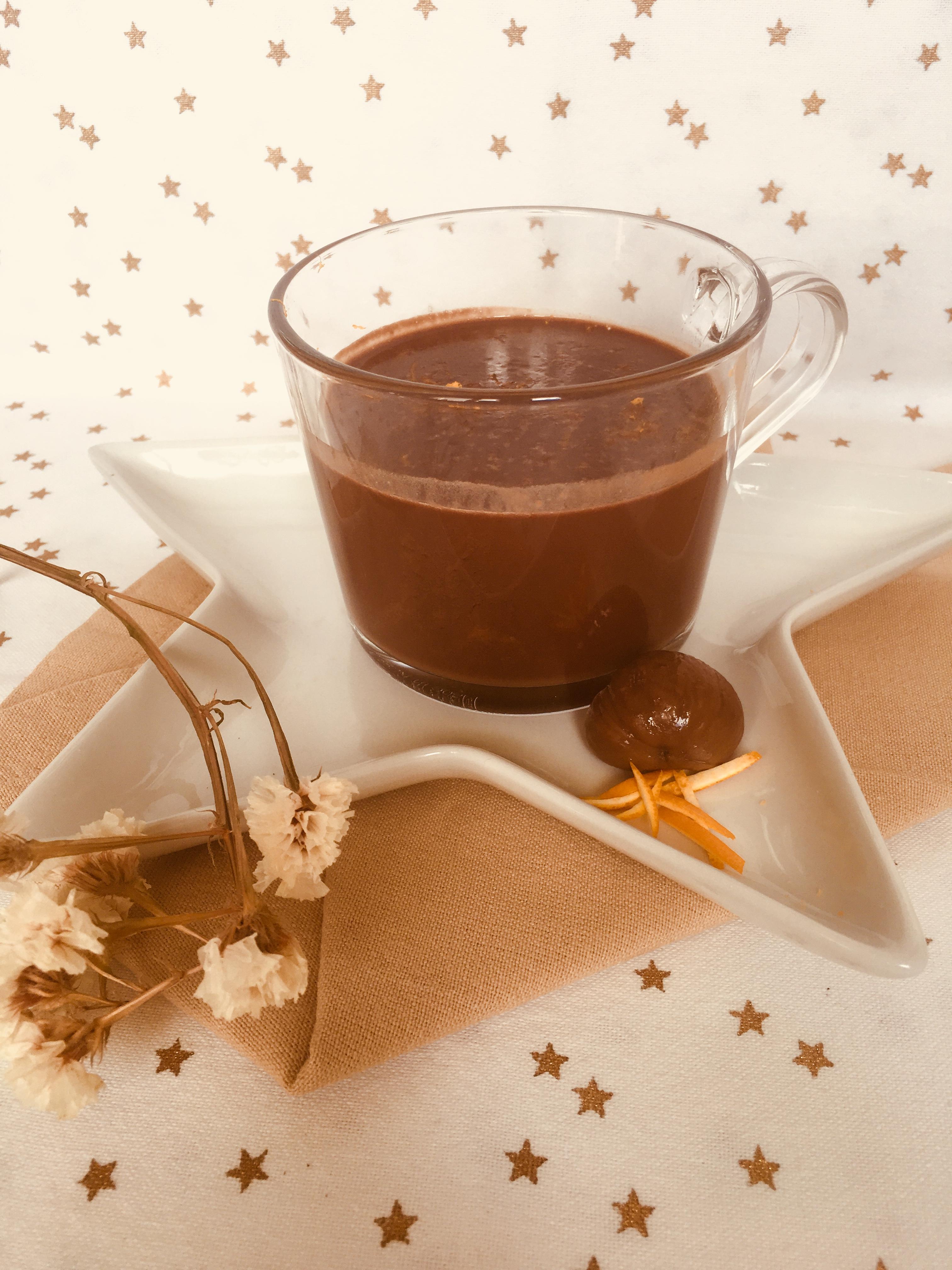 crema de chocolate y castañas